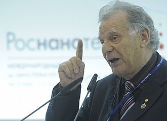 Zhores Alferov - Alferov speaking at the opening of the Nanotechnology International Forum in Moscow, November 2010.