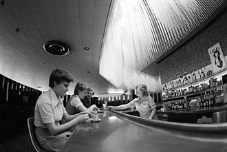 Drinking establishment - A bar at Sheremetyevo International Airport, 1980