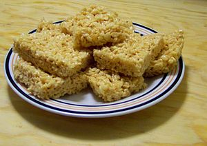 Rice Krispie treats squares