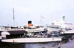 1971 view from Princes Landing Stage, Liverpool with Manxman.