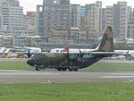 ROCAF C-130H 1311 Landing down Songshan Air Force Base 20161124a.jpg