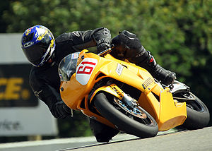 Motorcycle rider, Mosport, Ontario