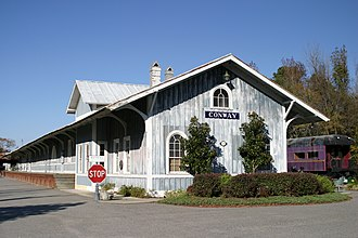 Conway, South Carolina - Old train station (no longer in use)