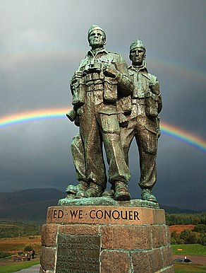 Rainbow Warriors - Commando Memorial, Spean Bridge - geograph.org.uk - 967232.jpg