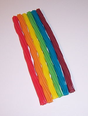 Rainbow licorice candy
