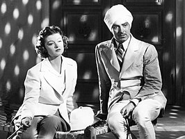 Myrna Loy en Tyrone Power in The Rains Came