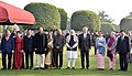 Ram Nath Kovind, the Vice President, Shri M. Venkaiah Naidu and the Prime Minister, Shri Narendra Modi with the other leaders, at the 'At Home Reception', on the occasion of the 69th Republic Day celebrations.jpg
