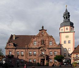 Bildinhalt: Ettlinger Rathaus mit Turm Aufnahmeort: Ettlingen, Deutschland