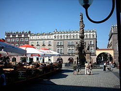 Market place with Marian column