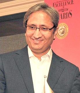 Ravish Kumar Indian TV journalist