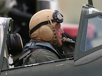 Ray Hanna - Hanna in Spitfire MH434 in 2005
