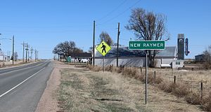 Raymer, Colorado - Ramer and Colorado State Highway 14.