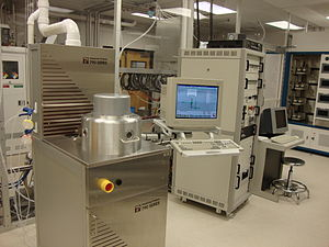 Reactive-ion etching - A commercial reactive-ion etching setup in a cleanroom