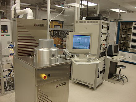 A commercial reactive-ion etching setup in a cleanroom Reactive Ion Etcher.JPG