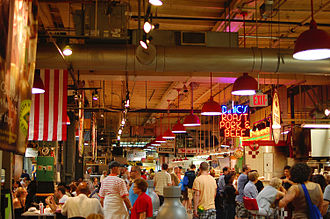 Economy of Philadelphia - The Reading Terminal Market in Center City is one of America's oldest and largest public markets.