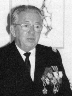 Combatant's Cross - Doctor Edmond Reboul, a recipient of the Combattant's Cross