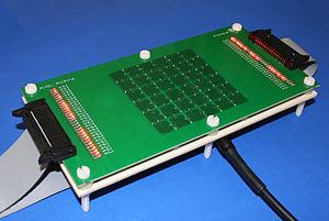 Reconfigurable antenna - Image: Reconfigurable pixel antenna