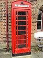 Red phone box, Hadlow Road railway station.JPG