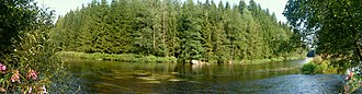 Bavarian Forest - Panorama of the River Regen
