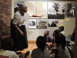 Reginald F. Lewis Museum of Maryland African American History & Culture - Living history performer gives school children a peek into history as Harriet Tubman.