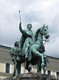 Reiterstandbild Ludwigs I. von Max von Widnmann 1862 Odeonsplatz Muenchen-2.jpg