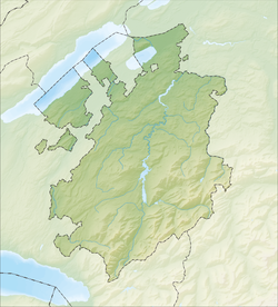 Ponthaux is located in Canton of Fribourg