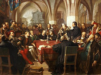 Marburg Colloquy - The Marburg Colloquy, painter of August Noack.