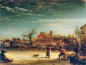 Gemäldegalerie Alte Meister (Kassel) - Image: Rembrandt Winterlandschap 1646