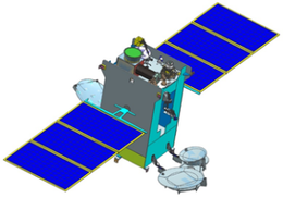 Render of GSAT-29 communication satellite in deployed configuration.png