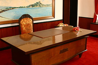 Leaders of South Vietnam - The Office of the President of Republic of Vietnam in Independence Palace, Saigon, South Vietnam.