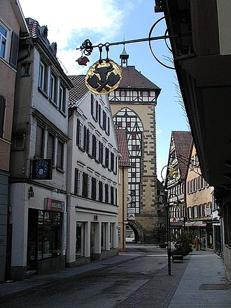 Reutlingen knife attack - A street in Reutlingen