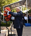 Reuven Rivlin at the memorial ceremony for Minister Rehavam (Gandhi) Ze'evi on the sixteenth anniversary of his assassination, October 2017 (4514).jpg