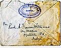 Rev. Aeneas Francon Williams (signature), Matelli, Jalpaiguri, India, envelope, Church of Scotland Mission, 1943.jpg
