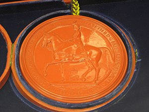 Reverse of the Great Seal of the Realm 1953.jpg