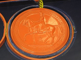 Great Seal of the Realm - An impression in wax of the Great Seal of the Realm (1953)