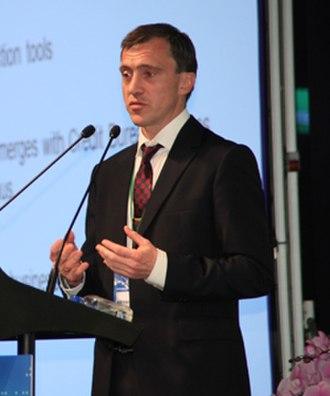 Reynir Grétarsson - Image: Reynir Gretarsson at a conference in Taipei