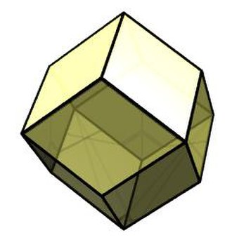 Rhombic dodecahedral honeycomb - Image: Rhombic dodecahedron