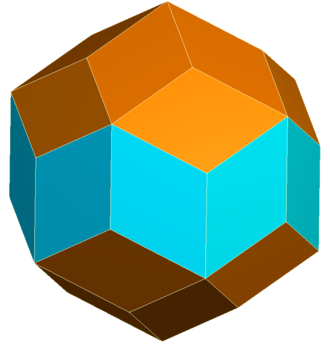 Rhombic icosahedron - Image: Rhombic triacontahedron middle colored