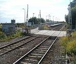 Rhoose level crossing - barriers up - geograph.org.uk - 2455655.jpg