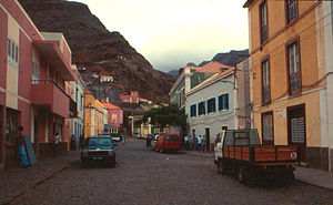 Ribeira Grande, Cape Verde - Street in Ribeira Grande