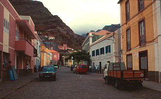 Ribeira Grande, Cape Verde - A typical street featuring colonial architecture
