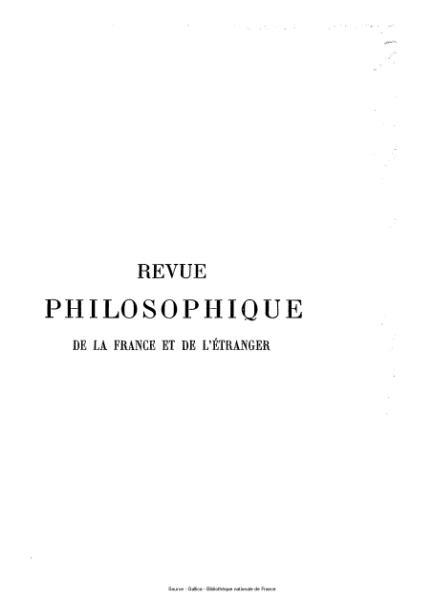 File:Ribot - Revue philosophique de la France et de l'étranger, tome 63.djvu