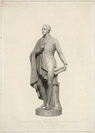 J. T. Wedgwood - Portrait of Richard Wellesley, 1st Marquess Wellesley, by J. T. Wedgwood and by F. F. Walker, printed by S. H. Hawkins 'after a sculpture by Henry Weekes