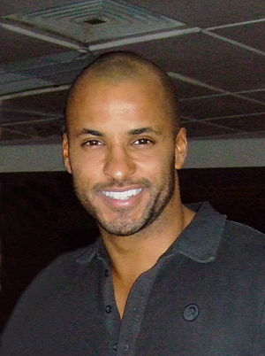 British actor Ricky Whittle at the BBC, with a...