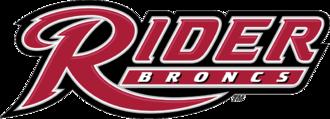 Rider Broncs men's basketball - Image: Rider Broncs wordmark