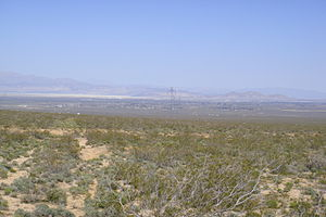 Mojave Desert - A typical Mojave desert valley and city: Indian Wells Valley and Ridgecrest, California