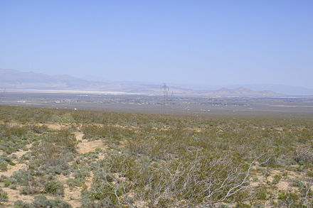 A typical Mojave desert valley and city: Indian Wells Valley and Ridgecrest, California RidgecrestCA.JPG