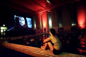 Reykjavík International Film Festival - A screening was held in a swimming pool in 2009.