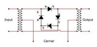 Аналоговая схема эффекта.  Кольцевая модуляция (англ. ring modulation) - звуковой эффект или соответствующее...