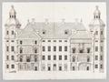 Ritning, gårdsfasad, Skoklosters slott - Skoklosters slott - 87844.tif